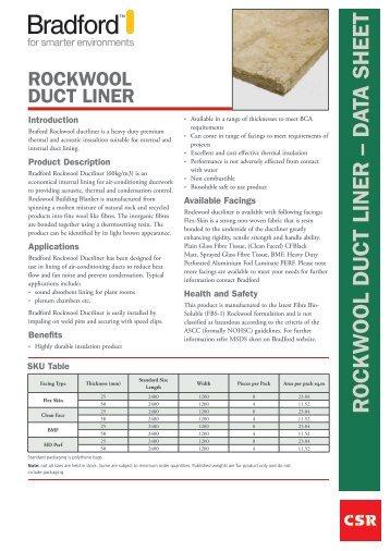 rockwool duct liner - CSR Bradford