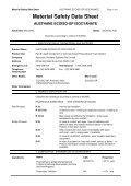 Material Safety Data Sheet - Insulation Industries - Page 5