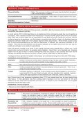 Glasswool MSDS - CSR Bradford - Page 5