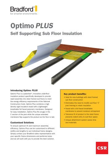 Optimo PLUS - Insulation Industries