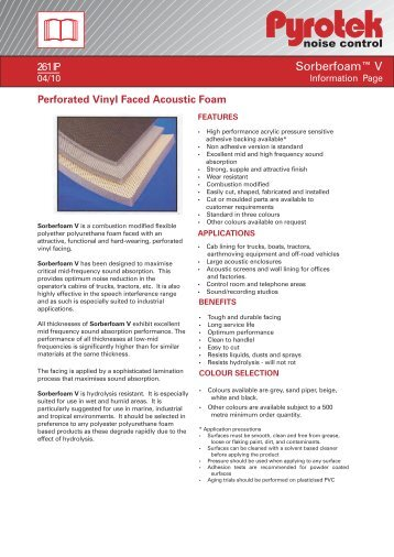 Perforated Vinyl Faced Acoustic Foam - Insulation Industries