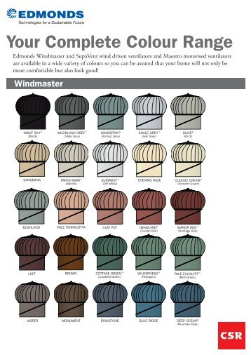 ED50_A4 Colour Chart_Updated.indd - Insulation Industries