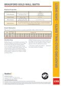 Gold Glasswool wall batts by CSR Bradford datasheet - Insulation ... - Page 2