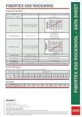 FIBERTEX 650 R OCKW OOL – D ATA SHEET - Insulation Industries - Page 2