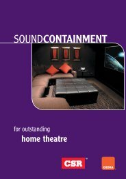 Home Theatre Design Guide - Insulation Industries