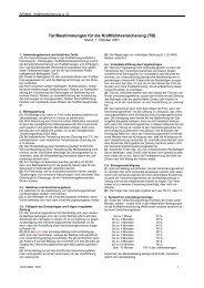 Tarifbestimmungen für die Kraftfahrtversicherung (TB)