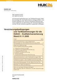 Kraftfahrtversicherung Stand 01.11.2005 - NAFI@NET AG