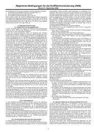 Allgemeine Bedingungen für die Kraftfahrtversicherung (AKB)