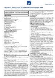 Allgemeine Bedingungen für die ... - NAFI@NET AG