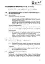 Kfz-Umweltschadenversicherung (Kfz-USV) - Stand 01.01.2008 -