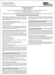 Verbraucherinformation Produktinformationsblatt ... - NAFI@NET AG