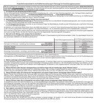 Produktinformationsblatt für die ... - NAFI@NET AG