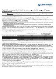 Produktinformationsblatt für die Kraftfahrtversicherung von ...