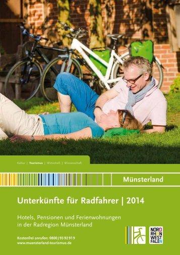 Unterkünfte für Radfahrer im Münsterland 2014