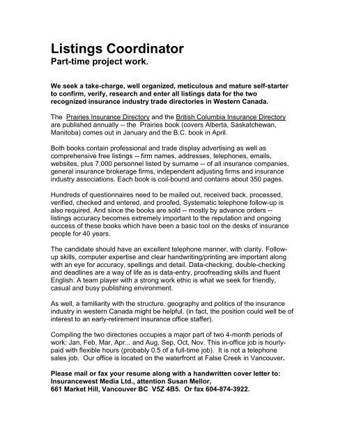 Part Time Project Coordinator Jobs Siphosjamaica