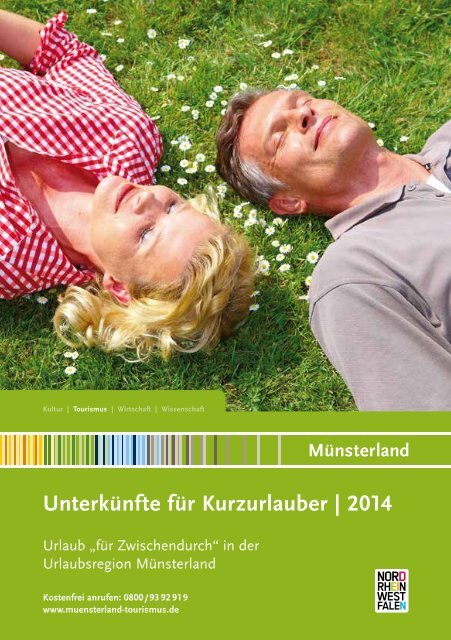 Unterkünfte für Kurzurlauber im Münsterland 2014