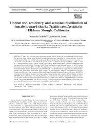 Habitat use, residency, and seasonal distribution of female leopard ...