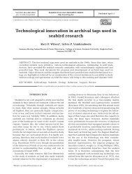 Technological innovation in archival tags used in seabird research
