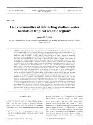 Fish communities of interacting shallow-water ... - Inter Research