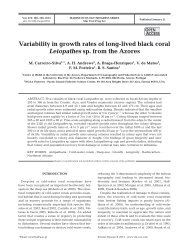 Variability in growth rates of long-lived black coral Leiopathes sp ...