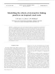 Modelling the effects of destructive fishing practices ... - Inter Research