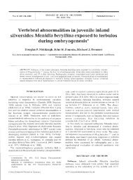 Vertebral abnormalities in juvenile inland during ... - Inter Research