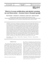 Effects of ocean acidification and global warming on reef bioerosion ...