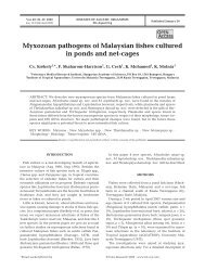 Myxozoan pathogens of Malaysian fishes cultured ... - Inter Research