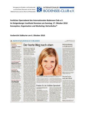 Eventdokumentation - Internationaler Bodensee-Club eV