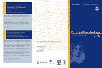 Droste-Literaturtage - Internationaler Bodensee-Club eV