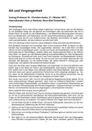 AA und Vergangenheit - Internationaler Club La Redoute Bonn eV