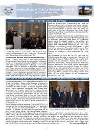 aktuelle Ausgabe des Club-Briefs von April 2013 - Internationaler ...