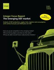 Integer Focus Report The Emerging DEF market - Integer Research