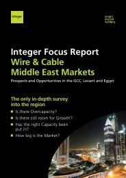 Integer Focus Report Wire & Cable Middle East ... - Integer Research