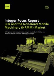 SCR and the Non-Road Mobile Machinery ... - Integer Research