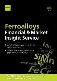 Ferroalloys Financial & Market Insight Service - Integer Research