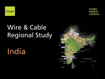 Wire & Cable R i l St d egional Study - Integer Research