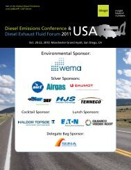 Diesel Emissions Conference & Diesel Exhaust ... - Integer Research