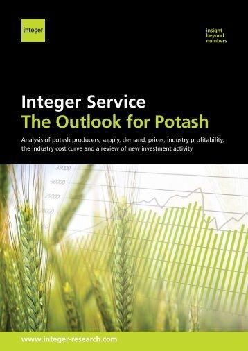 View our Potash brochure - Integer Research