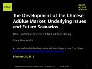 The Development of the Chinese AdBlue Market ... - Integer Research