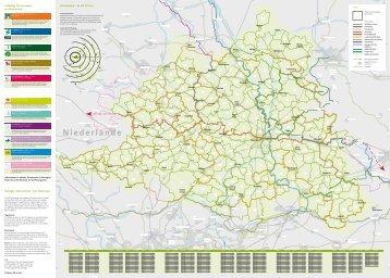 Rad-Planungskarte Münsterland