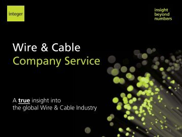 Wire & Cable C S i Company Service - Integer Research