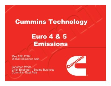Cummins Technology Euro 4 & 5 Emissions - Integer Research