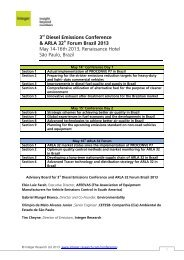 3rd Diesel Emissions Conference & ARLA 32 ... - Integer Research