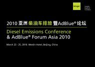 Diesel Emissions Conference & AdBlue® Forum ... - Integer Research