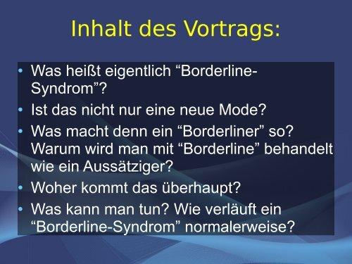 Vortrag Borderline 1/2011 (PDF, 176 kB) - intego