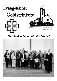 Juni-Juli 2012 - Dankeskirchengemeinde Goldstein