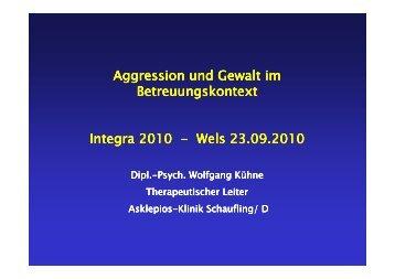 Aggression und Gewalt im Betreuungskontext - Vortrag - Dipl.