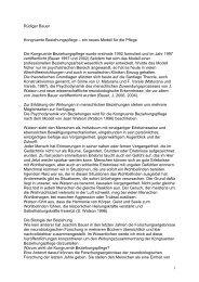 Rüdiger Bauer-Kongruente Beziehungspflege