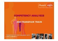 Competence analyses - INTEGRA 2010